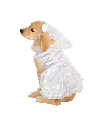 Rubie's Big Dog Bride Costume White