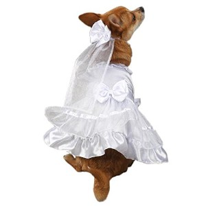 East Side Collection Yappily Ever After Wedding Dress for Dogs
