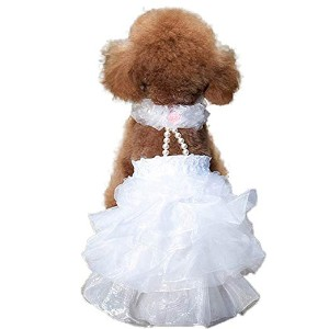 WORDERFUL Dog Wedding Dress