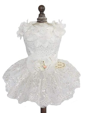 Topsung Small Dog Wedding Dress