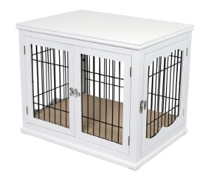 Internet's Best Wood and Wire Dog Crate with Cushion