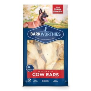 Barkworthies Bulk Cow Ears (50-Pack)