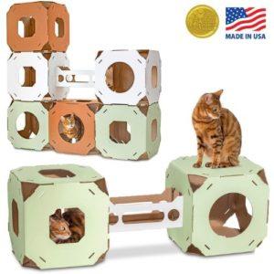 Cat Amazing Stacks! - Modern Cat Condo & Modular Cat Tree