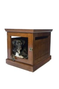 DenHaus Mahogany Townhaus Wooden Pet Crate