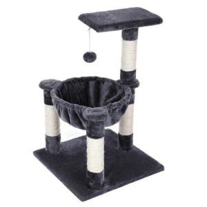 FEANDREA Cat Tree Condo House with Sisal Scratch Posts