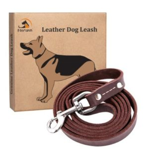 Fairwin Brown 6FT/ 5FT Genuine Leather Dog Leash