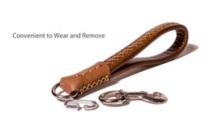 Guiding Star Short Leather Dog Leash
