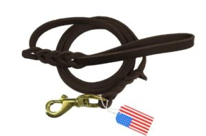 Highland Farms Select Premier 6ft Leather Dog Training Leash