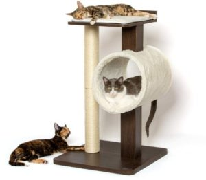 "PetFusion Modern Cat Tree House & Tall Scratching Post (33"" Tall)"