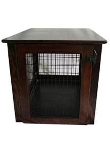 Pinnacle Wooden Dog Crate Furniture End Table