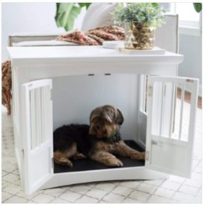 Polar Bear's Pet Shop End Table 2 Door White Wood Bed