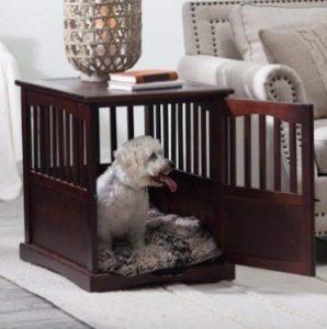 Polar Bear's Shop Pet Wooden Pet Crate End Table