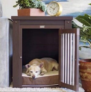 SUNCOO Wooden Dog House End Table