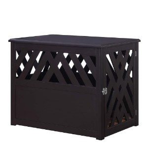 Unipaws Pet Crate End Table with Cushion