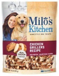 Milo's Kitchen Chicken Grillers Recipe Dog Treats