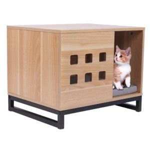 BBvilla Rectangle Wooden Pet House