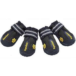EXPAWLORER Waterproof Dog Boots with Reflective Velcro and Anti-Slip Sole