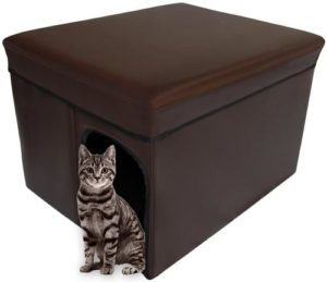 Mable Ruth Ottoman Hidden Litter Box Enclosure