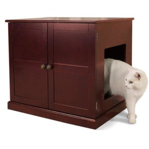 Pet Studio Meow Town Concord Litter Box Cabinet