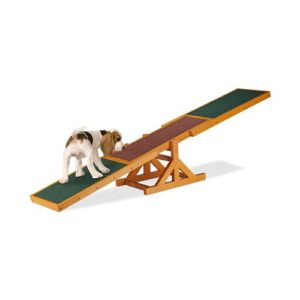 Relaxdays Colourful Wooden Pet Seesaw