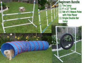 Weave Poles Dog Agility Equipment Bundle