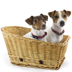 Beach & Dog Co Large Rear Mount Willow Bicycle Basket for Dogs