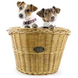 Beach & Dog Co Large Willow Bicycle Basket for Dogs