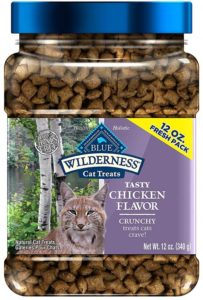 Blue Buffalo Wilderness Chicken Formula Crunchy Cat Treats