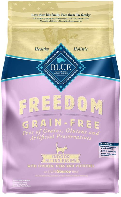 Blue Freedom Grain Free Natural Indoor Kitten Dry Food