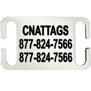 CNATTAGS Stainless Steel Slide-On Pet ID Tag