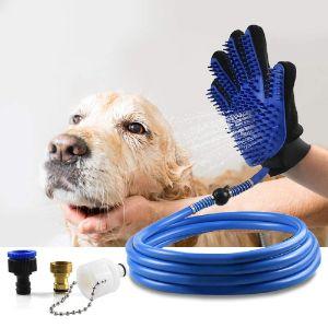 Deggy Dog Shower Sprayer Bath Glove