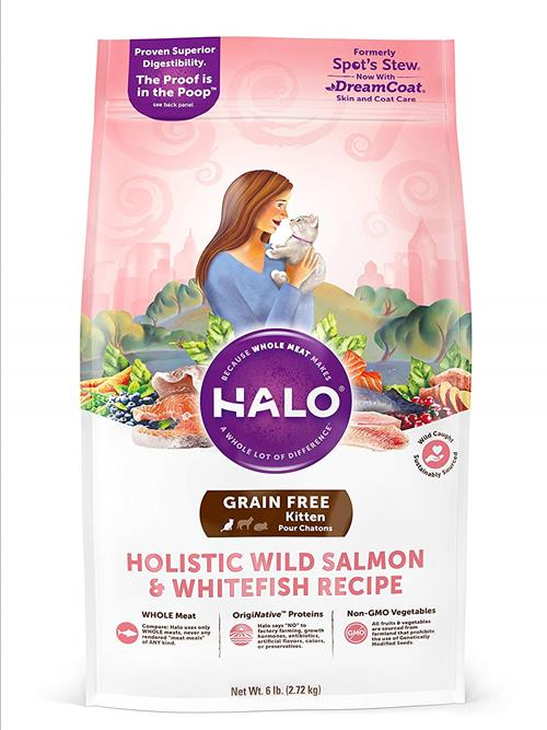 Halo Wild Salmon & Whitefish Recipe Kitten Food