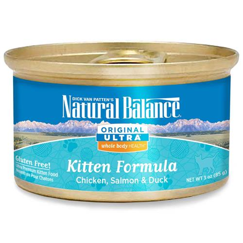 Natural Balance Ultra Chicken, Salmon & Duck Canned Kitten Food