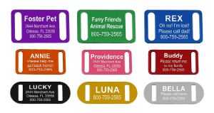 Providence Engraving Slide-On Pet ID Tag