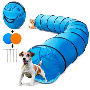 Topleader Dog Tunnel with 2pcs Flying Disks