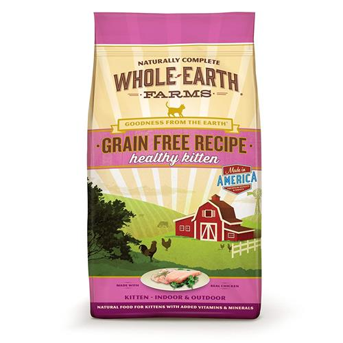 Whole Earth Farms Grain Free Recipe Dry Kitten Food