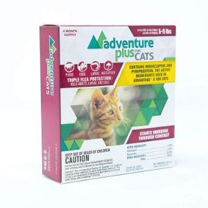 Adventure Plus Triple Flea Protection for Cats, 5-9 lbs