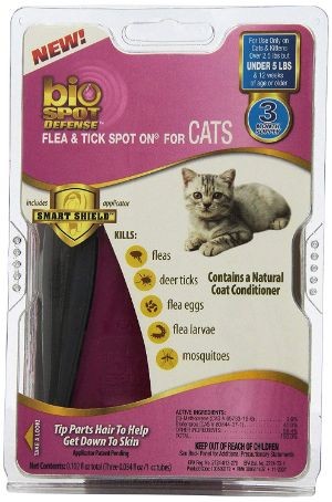 Bio Spot Active Care Flea and Tick Spot-On for Cat (under 5lbs)
