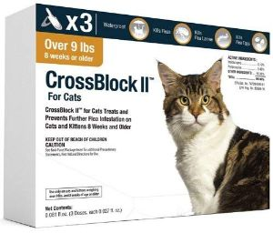 CrossBlock II Flea Preventative for Cats Over 9Lb