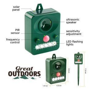Great Outdoors Ultrasonic Animal Repeller