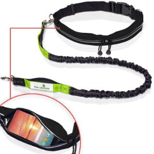 Paw Lifestyles Retractable Hands Free Dog Leash W/Smartphone Pouch