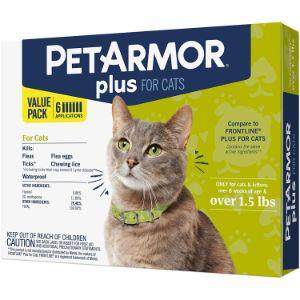 PETARMOR Plus for Cats, Flea & Tick Prevention for Cats
