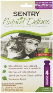 Sentry Natural Defense for Cats and Kittens, Flea and Tick Prevention for Cats of All Weights