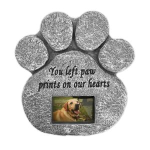 Barnyard Designs Paw Print Pet Memorial Stone