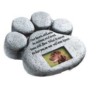 ETC Paw Print Pet Memorial Stone