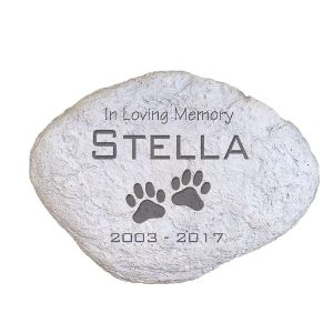 GiftsForYouNow Engraved Pet Memorial Garden Stone