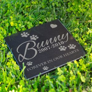 Lara Laser Works Personalized Pet Memorial Grave Marker