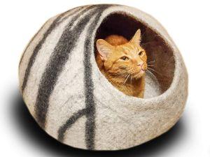 MEOWFIA Premium Felt Cat Bed Cave