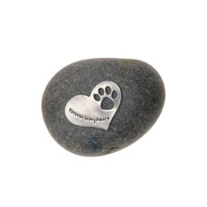 Quotable Cuffs Pet Memorial Paw Print Stone