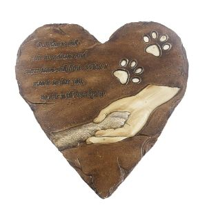 jinhuoba Dog Heart-Shaped Memorial Stone